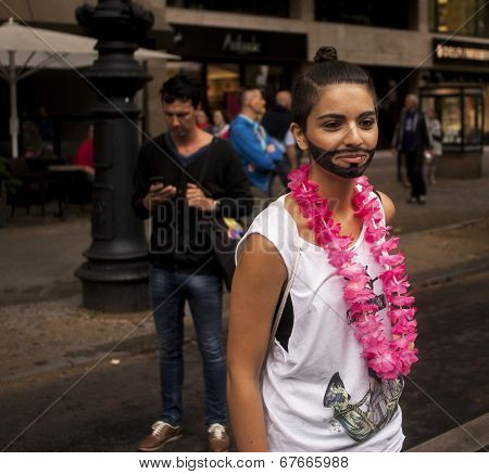 Woman Disguised As Conchita Wurst