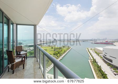 Stock image balcony with a view