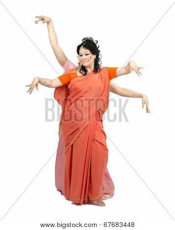 Woman Dancing Nataraja Dance