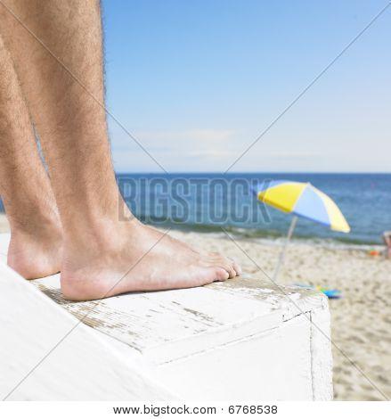 Lifeguard At Beach