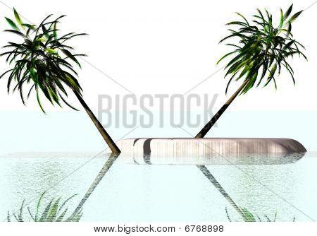 Island in the ocean