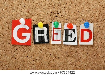 The word Greed