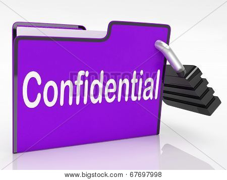 Security Confidential Representing Secrecy Classified And Administration poster