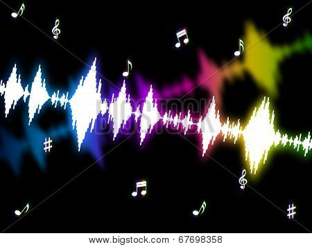 Sound Wave Means Soundwaves Graph And Acoustic