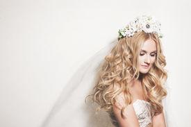 Portrait Of Young Gentle Bride
