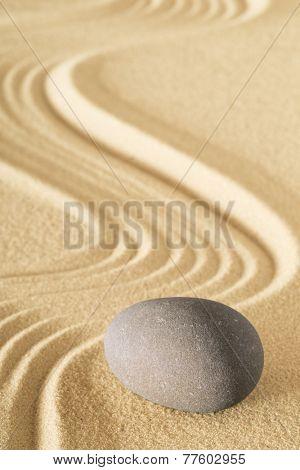 zen sand stone garden sheng fui japanese meditation relaxation and spa image spiritual balance round rock poster
