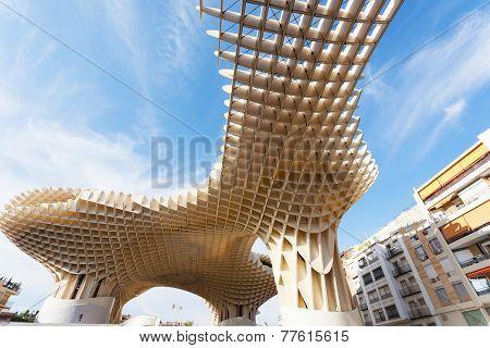 Metropol Parasol in Plaza de la Encarnacion in Sevilla