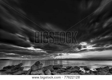 Benbrook Lake At Sunset