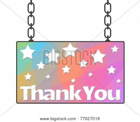 Thank You Hanged Signboard