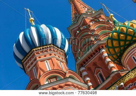 The Cathedral of Vasily the Blessed commonly known as Saint Basil's Cathedral is a former church in Red Square in Moscow Russia. A world famous landmark it has been the hub of the city's growth since the 14th century and was the city's tall poster
