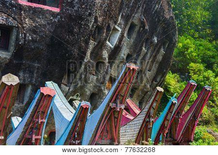 Traditional Burial Site In Tana Toraja