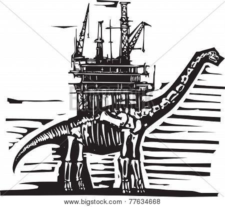 Brontosaurus Oil Rig