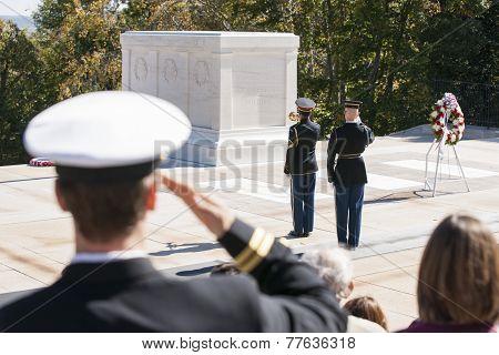 Arlington, changing of the guard.