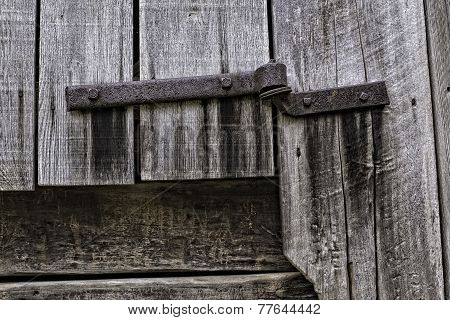 Rusty Hinge and Barn Board