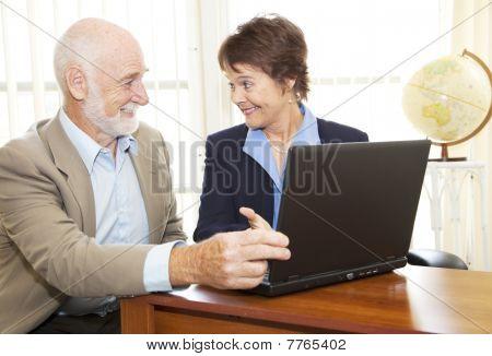Senior Man Financial Advice