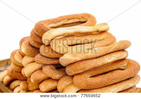 Tray With Bagels