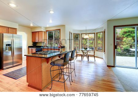 Bright Kitchen Room Interior