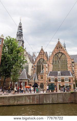 Oude Kerk (old Church) In Amsterdam