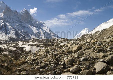 Baghirathi Parbat and Gangotri glacier