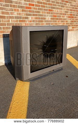 Broken TV Set