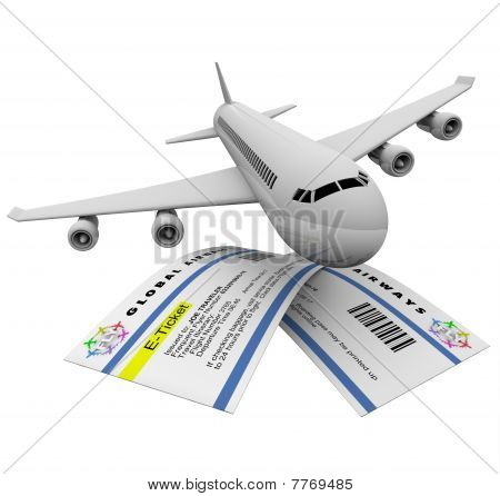 E-tickets And Airplane
