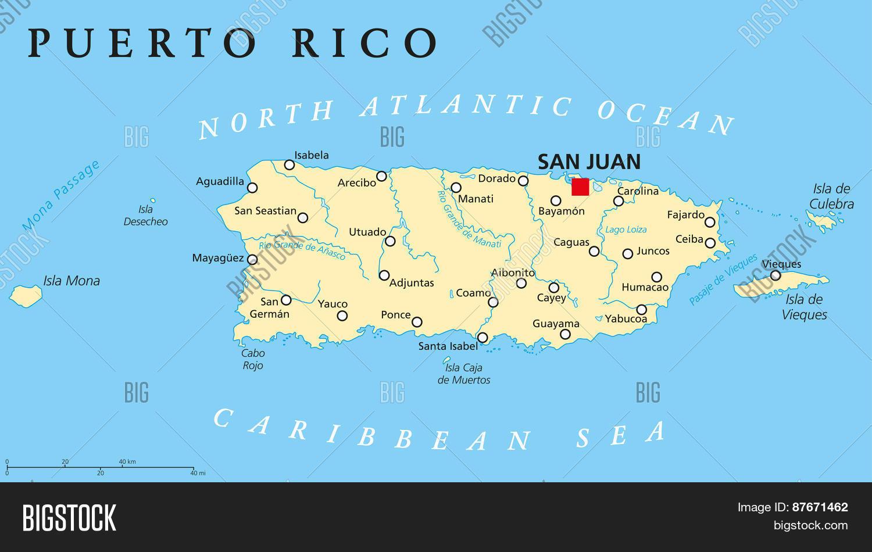 Puerto Rico Political Vector & Photo (Free Trial) | Bigstock