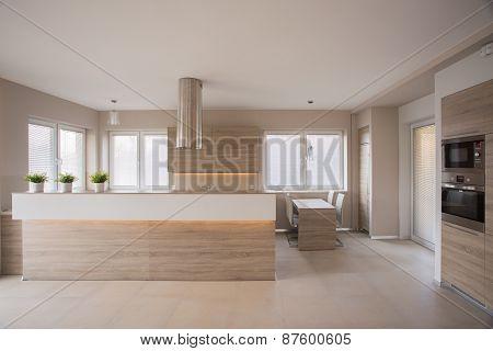 Beige Kitchen Interior