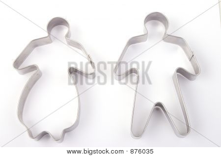 Pastry Cutters - Man And Woman Shape
