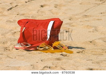Beach Bag And Sandals