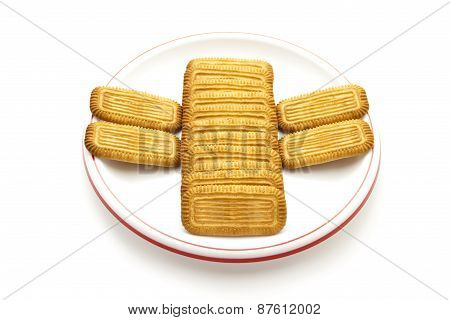 Fresh Baked Butter Biscuits on Plate