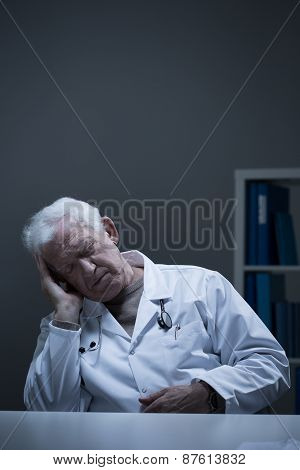 Doctor Sleeping In The Office