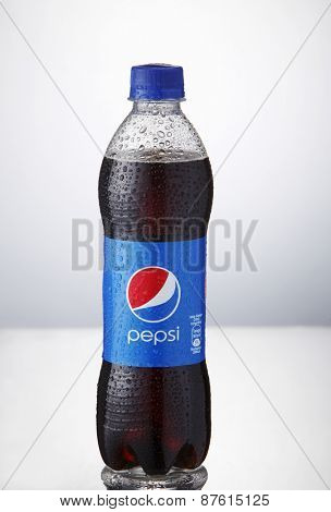 Kuala Lumpur,Malaysia 9th April 2015,Pepsi soft drinks. Pepsi is a carbonated soft drink produced and manufactured by PepsiCo Inc. an American multinational food and beverage company
