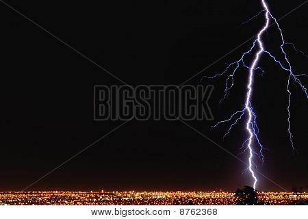 Lightning Strikes City