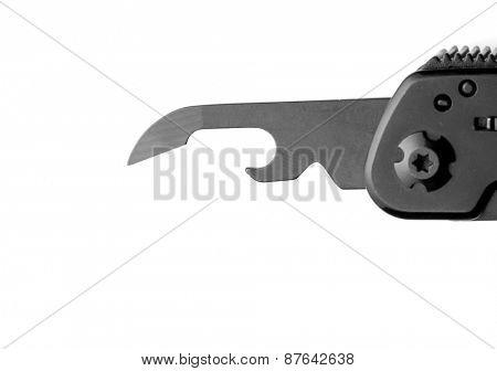 Opener on multitool knife