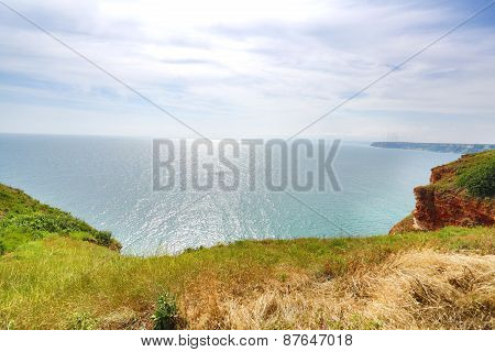 Coastal landscape. Kaliakra, Bulgari headland beautiful view poster
