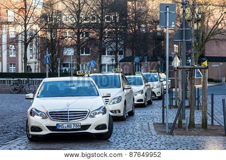Taxi Rank In Munster, Germany