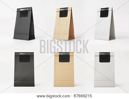 Set Of Paper Bag Templates