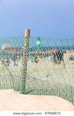 Windbreak Fence at the Beach