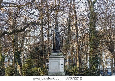 Statue Of Friedrich Von Schiller At The Maximiliansplatz In Munich