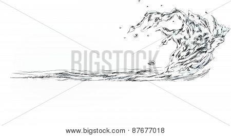Water splash, Sketch collection
