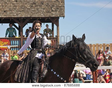A Princess On Horseback At The Arizona Renaissance Festival