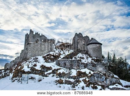 Medieval Ashes Of The Ehrenberg Castle In Tirol Alps, Austria, I