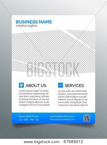 Corporate business flyer template - light blue design