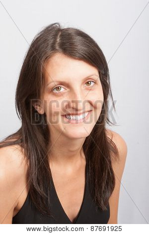 Young Woman Portrait Smiling