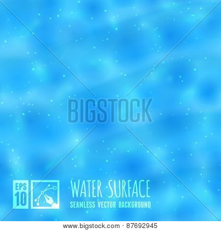 Seamless Water Surface Background. Vector illustration, eps10.