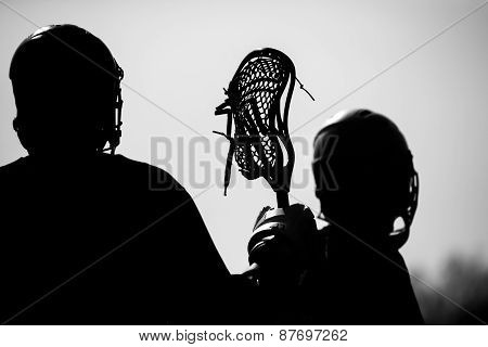 high quality lacrosse theme, gear and action photos poster