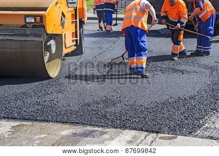 Asphalting City Roads