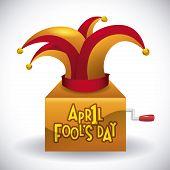 April fools day design, over white background,  vector illustration. poster
