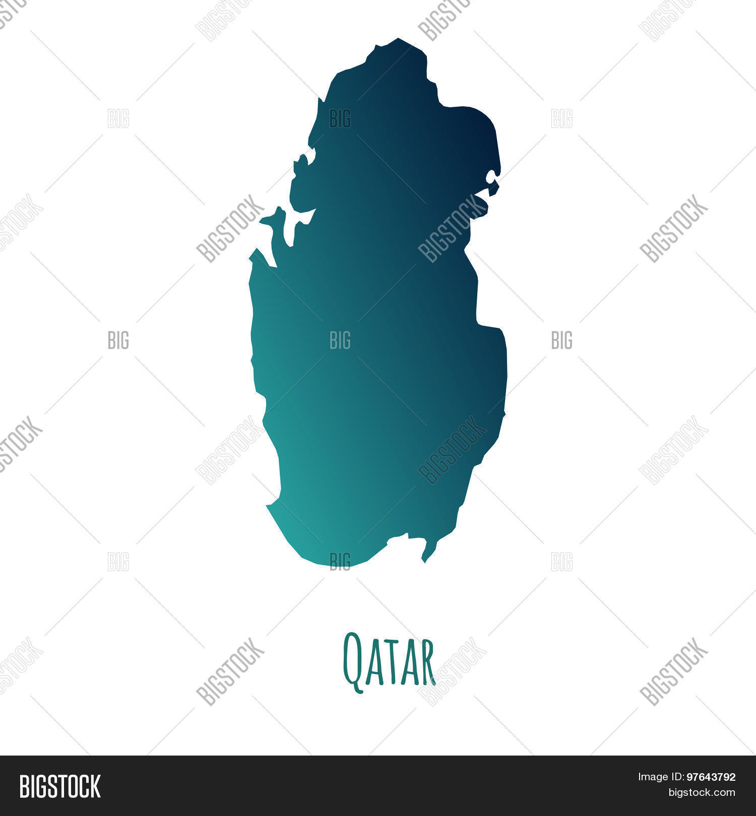 Qatar Map Vector & Photo (Free Trial) | Bigstock