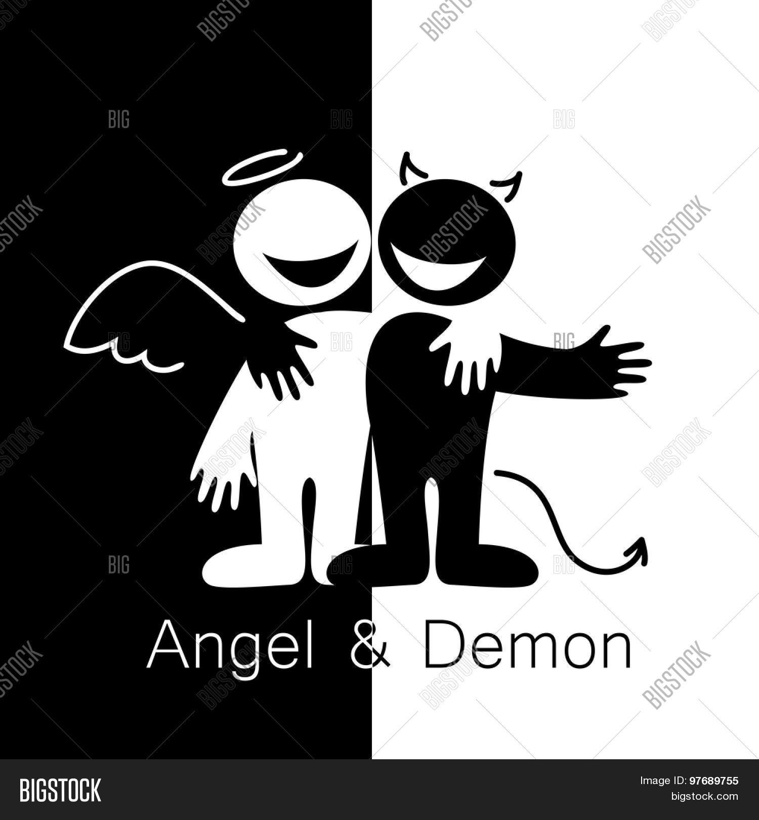 Angels demons vector photo free trial bigstock - Free evil angel pictures ...